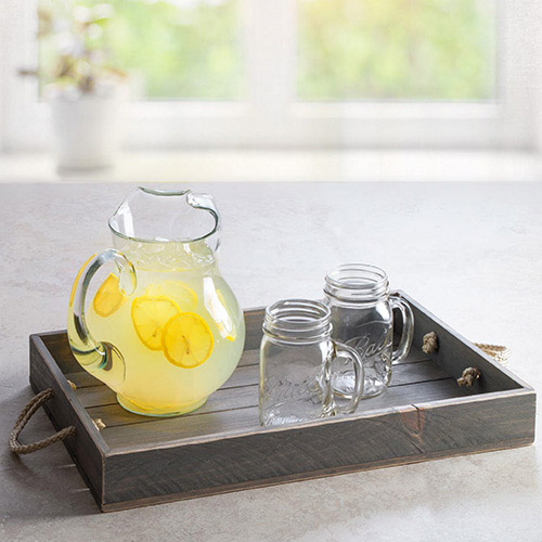 Slatted Wood Serving Trays
