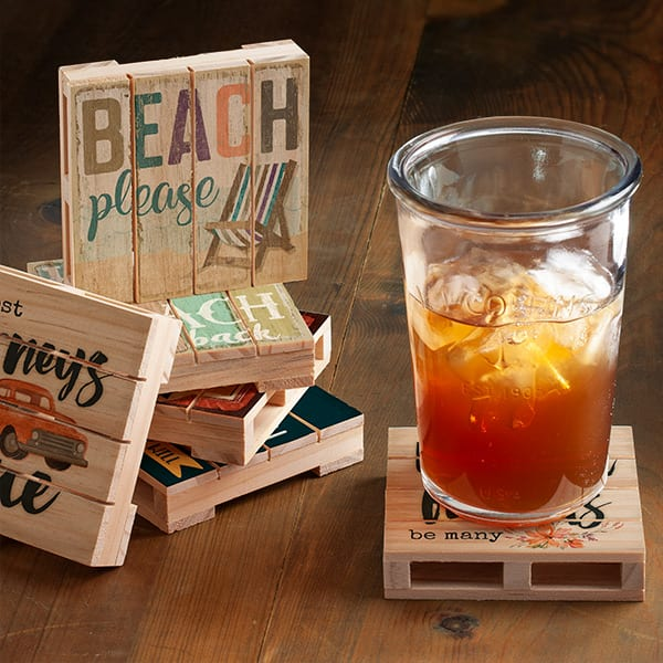 Slatted Pallet Wood Coasters