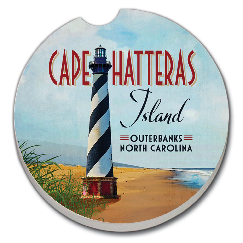 1pk Car Coaster Cape Hatteras Lighthouse Conimar Group