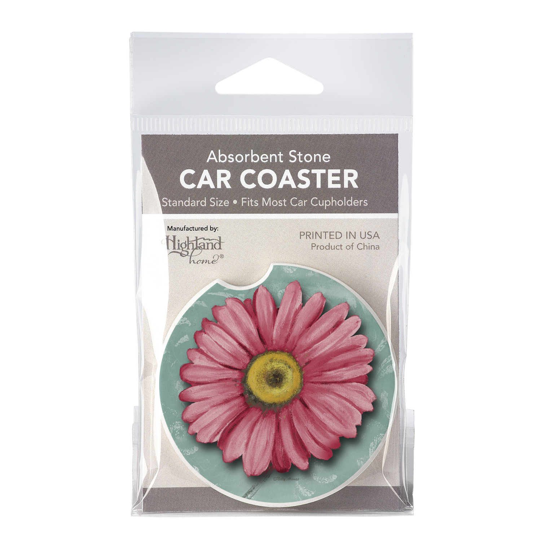 Car Coaster 1Pk - Blooming Daisy