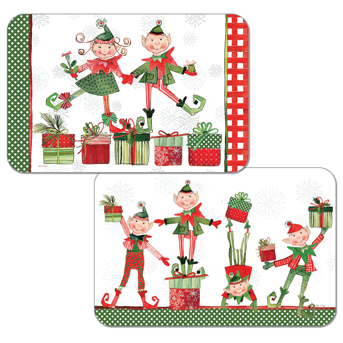Christmas Elves.Placemat Christmas Elves
