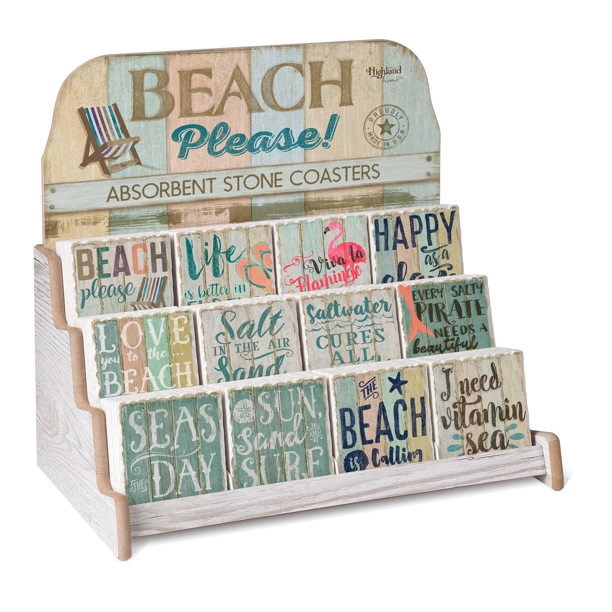 Single Tile Coaster Collection - Beach Please